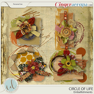 Circle Of Life Embellishments by Ilonka's Designs