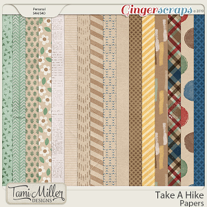 Take A Hike Papers by Tami Miller Designs
