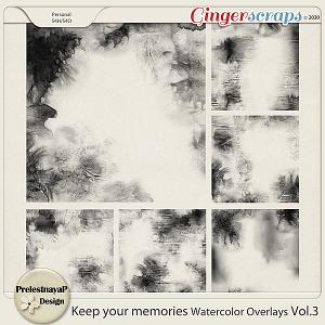 Keep your memories Watercolor Overlays Vol.3