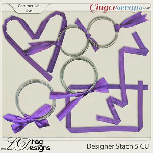 Designer Stash 5 CU Ribbons by LDragDesigns