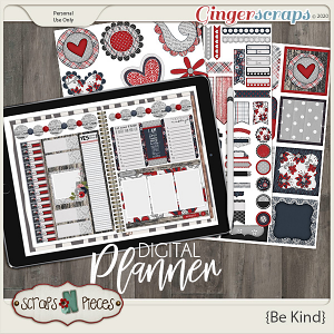 Be Kind Planner Pieces - Scraps N Pieces