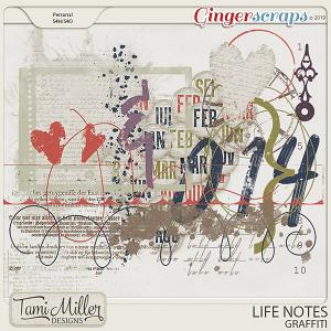 Life Notes Graffiti by Tami Miller Designs