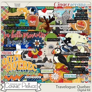 Travelogue Quebec Canada - Kit by Connie Prince