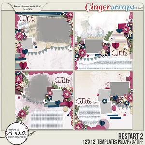 Restart 2- Templates - by Neia Scraps