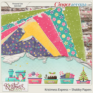 Kristmess Express Shabby Papers