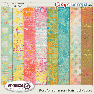 Best Of Summer - Painted Papers by Aprilisa Designs
