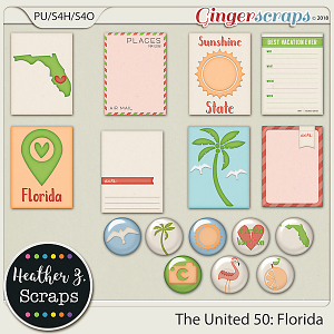The United 50: Florida JOURNAL CARDS & FLAIRS by Heather Z Scraps