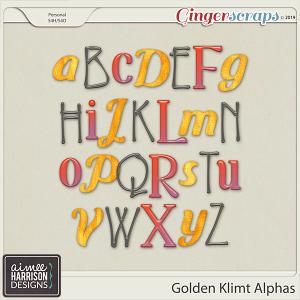 Golden Klimt Alpha Sets by Aimee Harrison