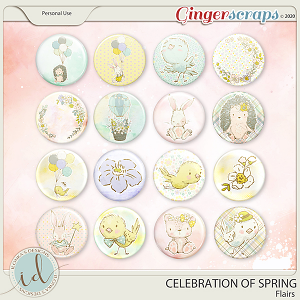 Celebration Of Spring Flairs by Ilonka's Designs