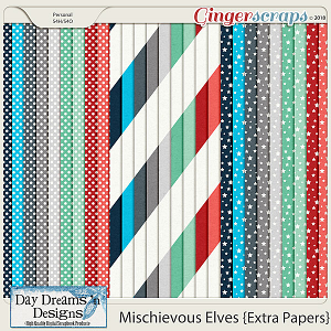 Mischievous Elves {Extra Papers} by Day Dreams 'n Designs
