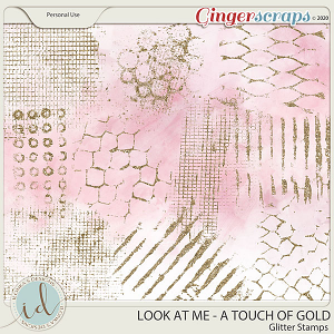 Look at Me A Touch Of Gold Glitter Stamps by Ilonka's Designs