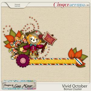 Vivid October Bonus Cluster from Designs by Lisa Minor
