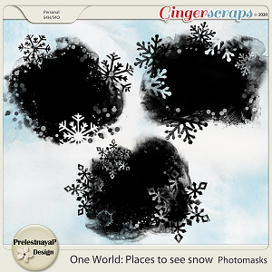 One World: Places to see snow Photomasks