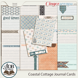 Coastal Cottage Journal Cards by ADB Designs