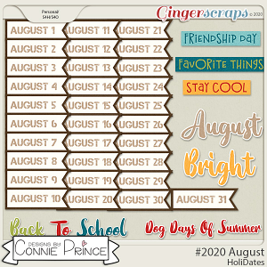 #2020 August - HoliDates by Connie Prince