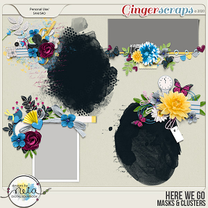 Here We Go -  Masks & Clusters - by Neia Scraps