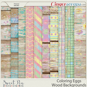 Coloring Eggs Wood Backgrounds