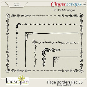 Page Borders Rec 35 by Lindsay Jane