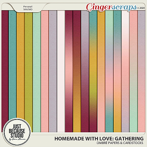 Homemade With Love: Gathering Ombré Papers & Cardstocks by JB Studio