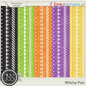 Witchy Poo Pattern Papers