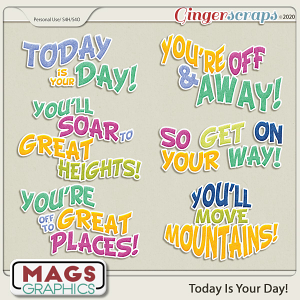 Today Is The Day WORD ART by MagsGraphics