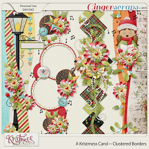 A Kristmess Carol Clustered Borders
