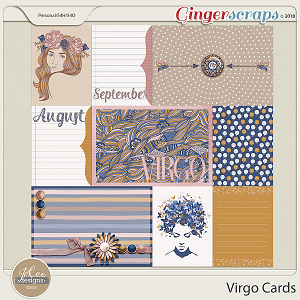 Virgo Cards by JoCee Designs