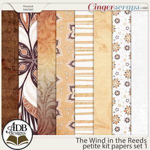 The Wind in the Reeds Papers Set 01 by ADB Designs