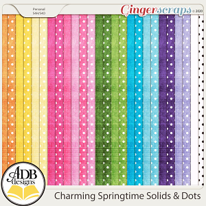 Charming Springtime Solid & Dots Papers by ADB Designs