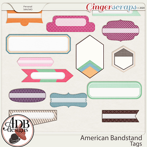 American Bandstand Tags by ADB Designs