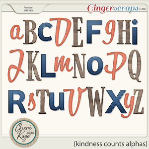 Kindness Counts Alphas by Chere Kaye Designs