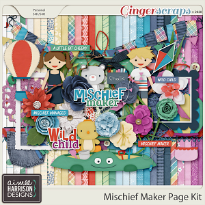 Mischief Maker Page Kit by Aimee Harrison