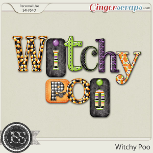 Witchy Poo Alphabets