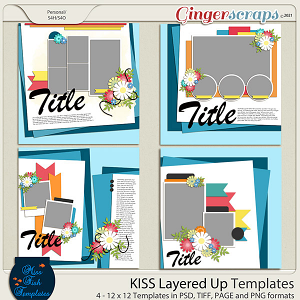KISS- Layered Up Templates by Miss Fish