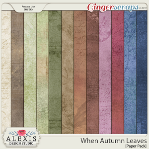 When Autumn Leaves - Paper Pack