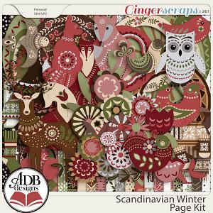 Scandinavian Winter Page Kit by ADB Designs