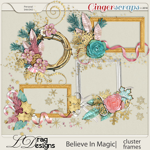Believe In Magic: Cluster Frames by LDragDesigns