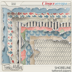 Shoreline Tattered Papers by Tami Miller Designs