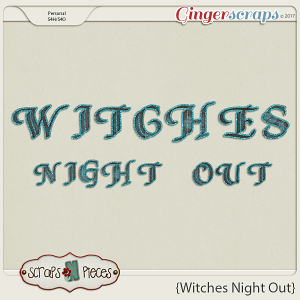Witches Night Out alpha by Scraps N Pieces