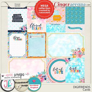 DigiFriends Cards by PrelestnayaP, JB Studio, Neia & HeartMade