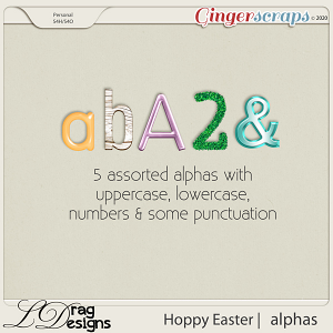 Hoppy Easter: Alphas by LDragDesigns
