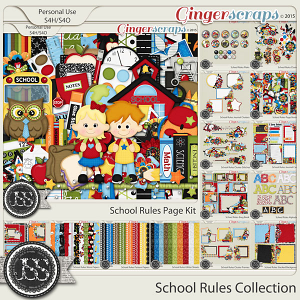 School Rules Digital Scrapbooking Bundle