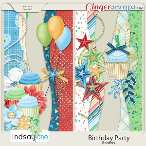 Birthday Party Borders by Lindsay Jane