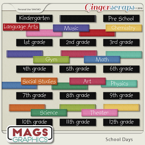 School Days WORD TAGS by MagsGraphics