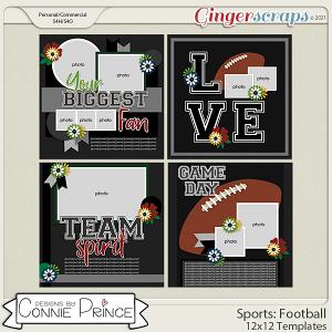 Sports: Football  - 12x12 Templates (CU Ok) by Connie Prince