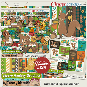 Nuts About Squirrels Bundle by Clever Monkey Graphics