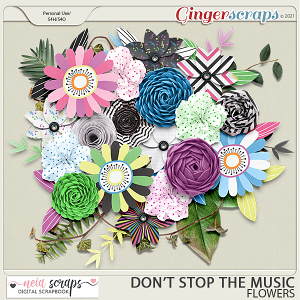 Don't Stop the Music - Flowers - by Neia Scraps