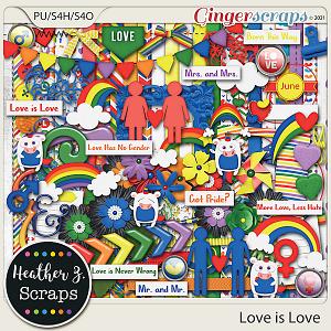 Love is Love KIT by Heather Z Scraps