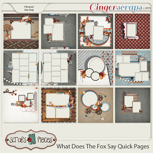 What Does The Fox Say? Quick Pages by Scraps N Pieces