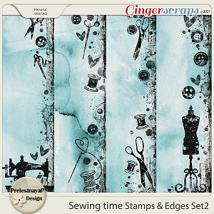 Sewing time Stamps & Edges Set2